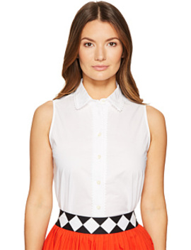Lace Inset Sleeveless Top by Kate Spade New York