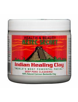 Aztec Secret   Indian Healing Clay   1 Lb. | Deep Pore Cleansing Facial & Healing Body Mask | The Original 100 Percents Natural Calcium Bentonite Clay by Aztec Secret