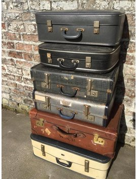 Vintage Suitcases | Vintage Luggage | Vintage Home Decor | Vintage Storage Solution | Vintage Cases | Photo Props by Anthi Leoni Decor