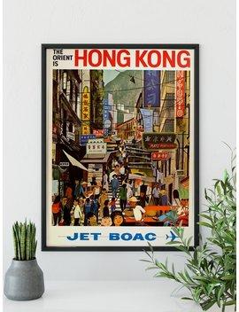 Hong Kong Poster | Impression De Voyage Vintage | Art Mural Hong Kong | Hong Kong Print | Impression D'art Rétro | Art Mural Vintage | Affiche Vintage | Vtc015 by Nara Project