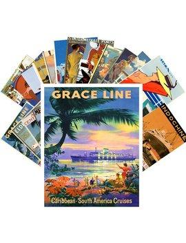 Cartes Postales Set 24pcs * Océan Cruise Liner Vintage Mer Voyage Affiche Cc1056 by Alexbroom