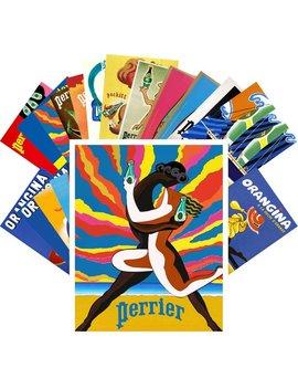 Cartes Postales Set 24pcs * Perrier Ogangina Villemot Vintage Art Déco Annonces Affiche Cc1082 by Alexbroom