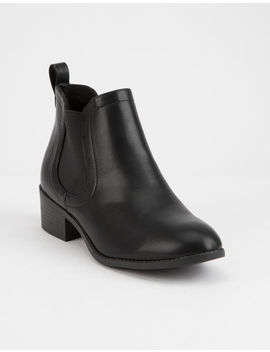 City Classified Chelsea Black Womens Booties by City Classified