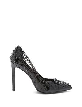 Spiked Faux Patent Leather Pumps by Forever 21