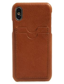 Card Slot Leather I Phone X & Xs Case by Madewell