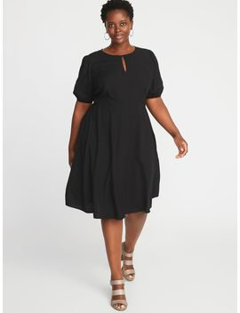 Keyhole Fit &Amp; Flare Plus Size Dress by Old Navy