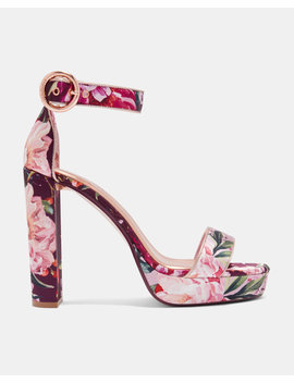 Plateau Sandalen Mit Serenity Print by Ted Baker
