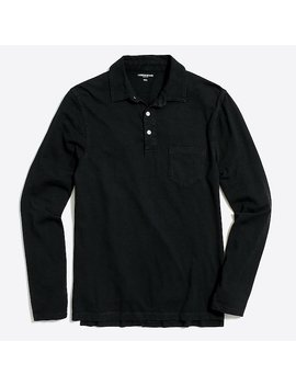 Long Sleeve Garment Dyed Polo by J.Crew