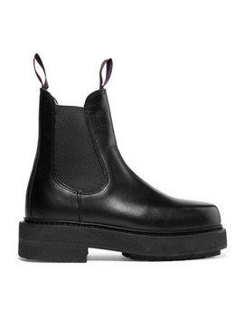 Ortega Leather Platform Boots by Eytys