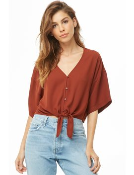 Chiffon Crop Top by Forever 21