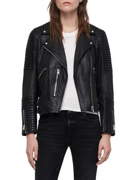 Estella Leather Biker Jacket by Allsaints