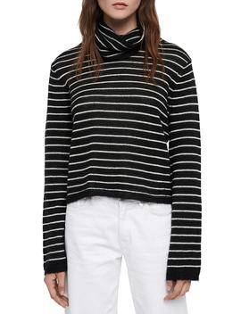 Marty Stripe Roll Neck Sweater by Allsaints