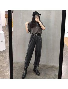 Porstina   Contrast Trim Short Sleeve T Shirt/ Plain Wide Leg Cargo Pants by Porstina