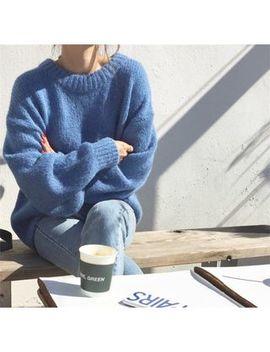Alfie   Plain Loose Fit Sweater by Alfie