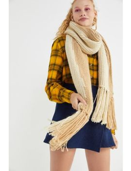 Extra Large Knit Oblong Scarf by Urban Outfitters