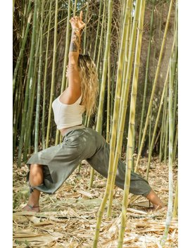 Bamboo Yoga Harem Pants, Boho Womens Harem Pants, Made In Italy by Freak Le Chic It
