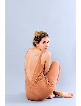 Bamboo Jumpsuit, Yoga Jumpsuit, Sexy Jumpsuit, Sleeveless Jumpsuit, Nude Back Jumpsuit, Made In Italy by Freak Le Chic It