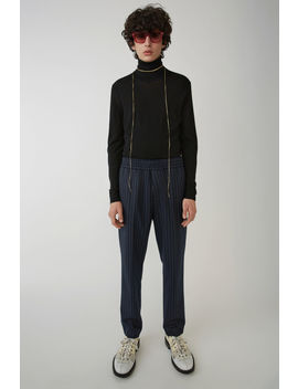 Elastic Waist Trousers Navy/Green by Acne Studios