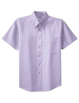 Clothe Co. Men's Short Sleeve Wrinkle Resistant Easy Care Button Up Shirt by Clothe Co.
