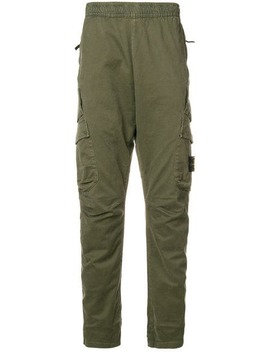Stone Islandelasticated Waist Tapered Trousershome Men Stone Island Clothing Tapered Trousers by Stone Island
