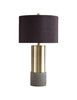 Jacek Table Lamp (Set Of 2) Gray/Brass Finish   Signature Design By Ashley by Signature Design By Ashley