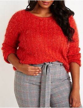 Plus Size Crew Neck Pullover Sweater by Charlotte Russe