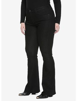 Blackheart Flared Black Jeans Plus Size by Hot Topic
