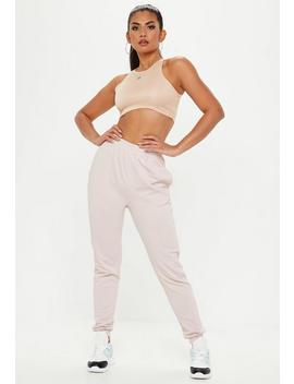 Nude Slim Fit Joggers by Missguided