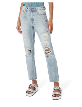 Slim Pin Distressed Jeans by Ksubi