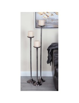 Cole & Grey 3 Piece Aluminum Candle Holder Set & Reviews by Cole & Grey