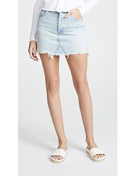 Quinn High Rise Mini Skirt by Agolde
