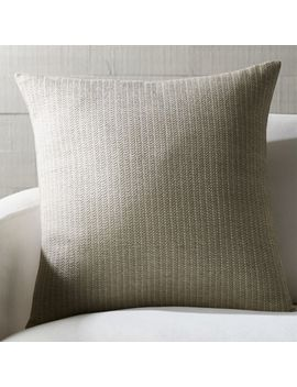 "Liano 23"" Grey Monochrome Pillow by Crate&Barrel"