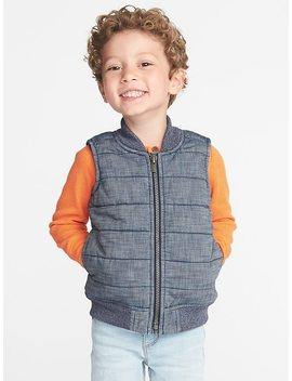 Quilted Chambray Vest For Toddler Boys by Old Navy