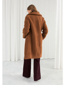 Faux Shearling Teddy Coat by & Other Stories