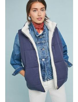 Reversible Sherpa Vest by Skies Are Blue