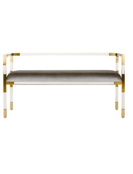Antastia Acrylic Bench   Safavieh by Safavieh