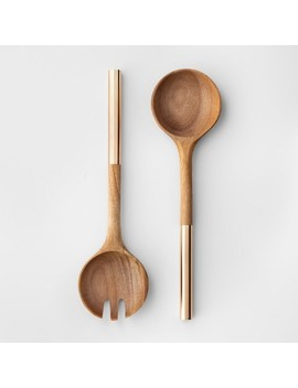 Cravings By Chrissy Teigen 2pc Acacia Wood Salad Serving Set by Cravings By Chrissy Teigen