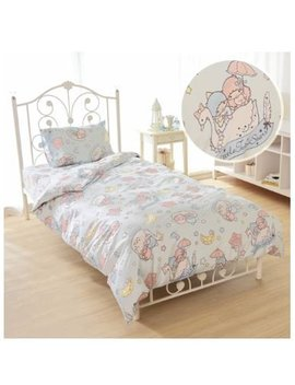 Sanrio Kikirara Little Twin Stars Duvet Cover, Sheets, Pillow Case Blue Three Piece Set Japanese Style by Sanrio