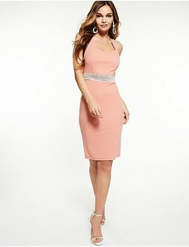 Crystal Detail Bodycon Dress by Charlotte Russe