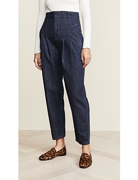 Pleated High Waist Jeans by La Vie Rebecca Taylor