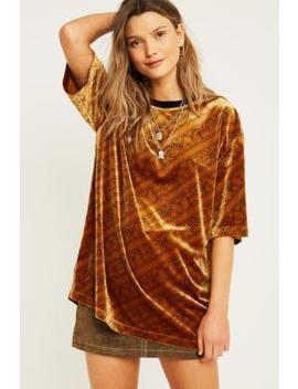 Kye – Oversized T Shirt Aus Velours by Kye Shoppen