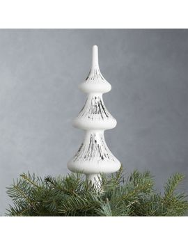 White Glass Tree Topper by Crate&Barrel