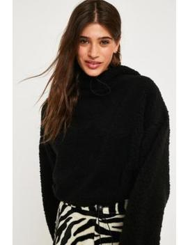Uo Teddy Cropped Track Hoodie by Urban Outfitters
