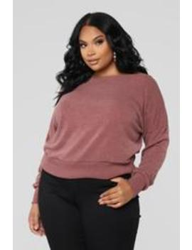 Staying In For The Night Sweater   Mauve by Fashion Nova