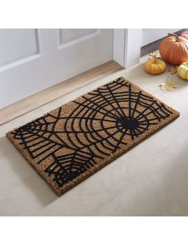 "Spiderweb Halloween Doormat 18""X30"" by Crate&Barrel"