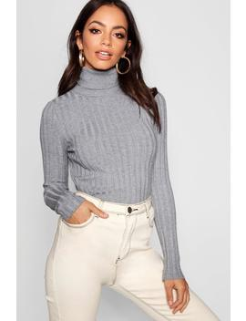 Ribbed Turtle Neck by Boohoo