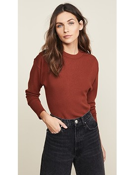Three Button Long Sleeve Knit Top by Jason Wu Grey