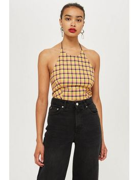 Petite Picnic Halter Neck Top by Topshop