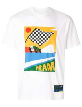 Pradaflag Print T Shirthome Men Prada Clothing T Shirts by Prada