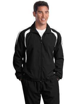 Sport Tek Men's Colorblock Raglan Jacket by Sport Tek